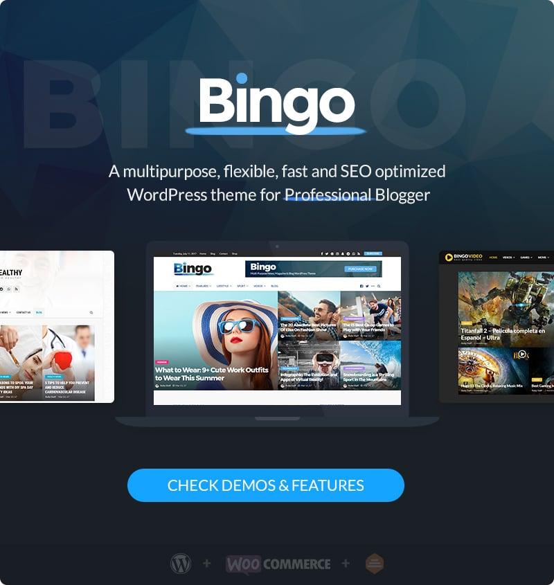 Bingo - Multi-Purpose Newspaper & Magazine Theme | Prosyscom Tech 2